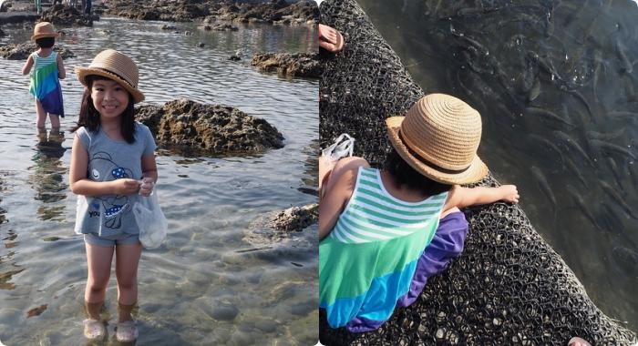 ▋台東遛小孩景點▋台東海岸線親子行,東管處無敵海景,玩激流泛舟實境X 富山復魚區海藻饅頭餵魚好開心,還能近看海裡的魚兒及生物! @捲捲頭 Wonderful 品味。生活