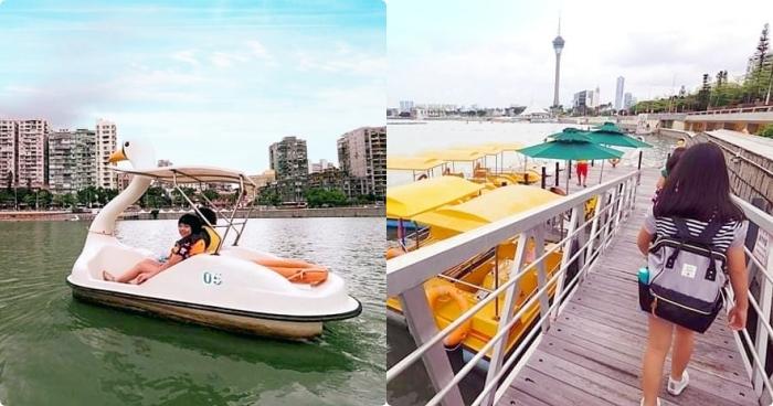 澳門》來點少見的澳門親子行程,免費景點大潭山公園滑草,還有便宜又好玩南灣湖划船! @捲捲頭 ♡ 品味生活