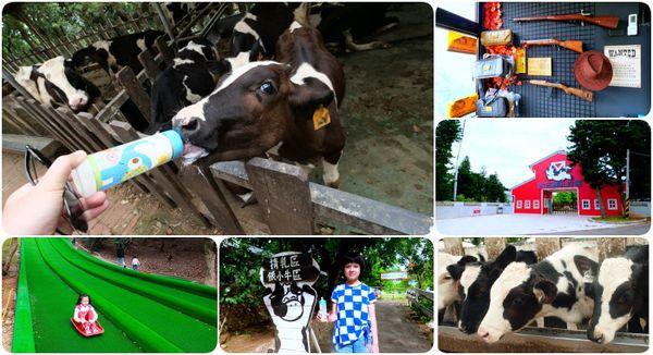 ▋苗栗景點 ▋四方鮮乳牧場。超好玩噴水極速滑草、餵小牛喝奶、看牛牛洗屁屁,最後再當個西部牛仔神槍手! @捲捲頭 ♡ 品味生活