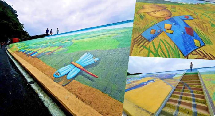 三星彩繪堤防⎪超大稻草人、彩繪階梯,立體小火車開到你眼前,堤防大變身,一起來同框拍照吧! @捲捲頭 Wonderful 品味。生活