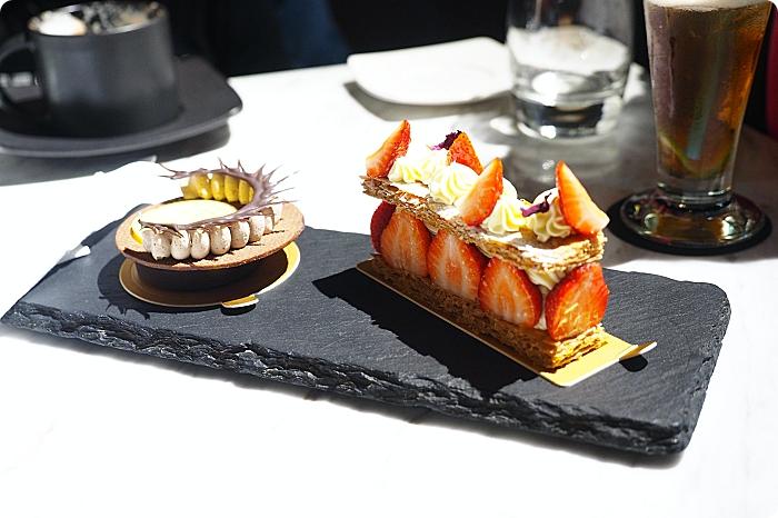 宜蘭下午茶⎮C'est Bon散步小河岸法式甜點。擁有法國藍帶甜點靈魂,經典檸檬塔、黑魔女栗子,草苺千層派,每日限量推出。 @捲捲頭 Wonderful 品味。生活