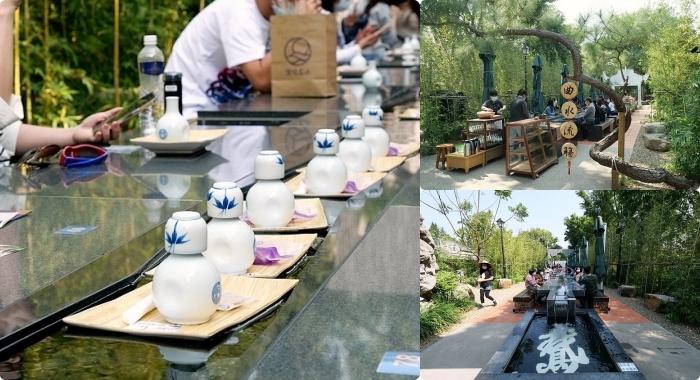 台南》好玩的茶杯漂漂河!曲水流觴對飲暢談超有氣氛,竹林綠X流水茶X發貴鳳梨酥,超人氣的文青朝聖地 ▏深緣及水善糖文化園區 @捲捲頭 ♡ 品味生活