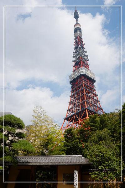 <東京親子自助旅行-5 > 東京鐵塔。保有距離的美,東京鐵塔 @捲捲頭 ♡ 品味生活