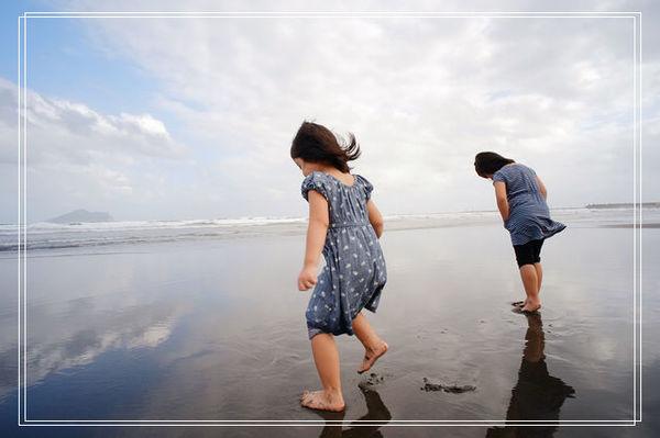 <頭城景點>外澳海灘玩沙踏浪+馬非塩滷臭豆腐 @捲捲頭 ♡ 品味生活
