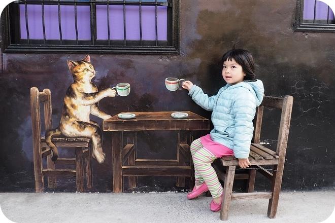 超萌!3個超好拍「IG打卡彩繪村」:3D毛小孩古錐出沒、漂浮斑馬線、與喵星人喝咖啡 @捲捲頭 ♡ 品味生活