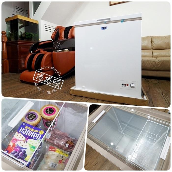 ▋廚房好物 ▋解放爆滿的冷凍庫,也是全家團圓聚餐的好幫手。三洋SANLUX 145公升,臥式冷凍櫃玻璃滑蓋限定版 SCF-145M。 @捲捲頭 Wonderful 品味。生活