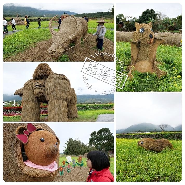 ▋2020富里稻草藝術節 ▋現身田野間的稻草動物園!超狂六米高銀背猩猩,巨型松鼠,黃金山豬。快來拍一波!!! @捲捲頭 Wonderful 品味。生活